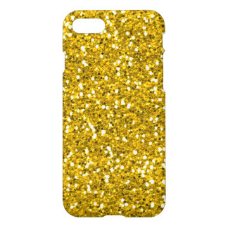 Sparkly And Shiny Gold Glitter iPhone 7 Case