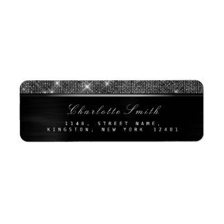 Sparkly Black White  Luxury Silver  RSVP Metallic