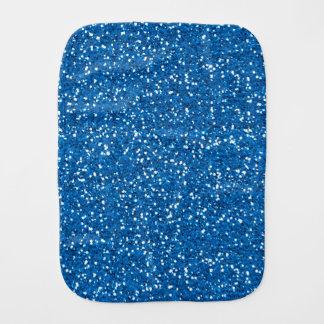 Sparkly Blue Glitter Burp Cloth