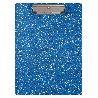 Sparkly Blue Glitter Clipboard