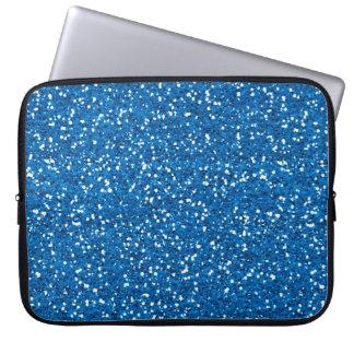 Sparkly Blue Glitter Laptop Sleeve