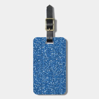Sparkly Blue Glitter Luggage Tag