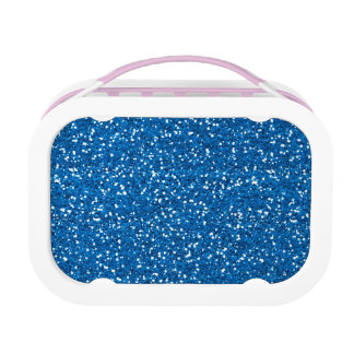 Sparkly Blue Glitter Lunch Box