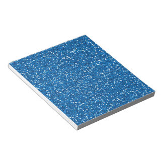 Sparkly Blue Glitter Notepad