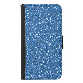 Sparkly Blue Glitter Samsung Galaxy S5 Wallet Case