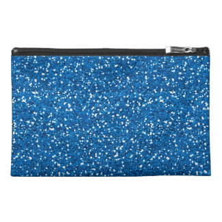 Sparkly Blue Glitter Travel Accessories Bags