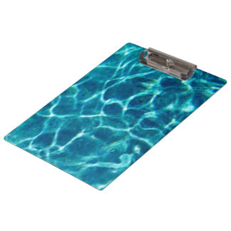 Sparkly Blue Pool Water Clipboard