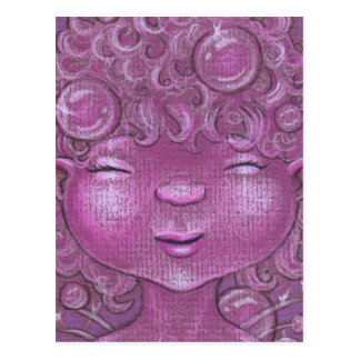 Sparkly Bubbly Sleepy Head Postcard