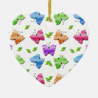 Sparkly Butterflies Ceramic Ornament