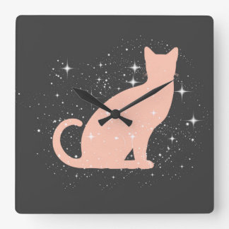 Sparkly Cat Wall Clock