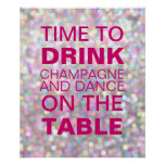 Sparkly Champagne Party Poster