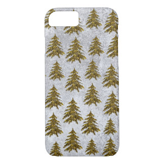 Sparkly Christmas tree on abstract paper iPhone 8/7 Case
