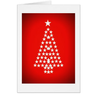 Sparkly Christmas Tree, red Card