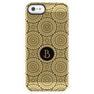 Sparkly Diamonds Glitter Circles Geometric Pattern Clear iPhone SE/5/5s Case