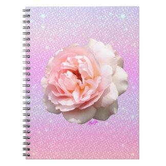 Sparkly Evening Sky Glitter Rose NoteBook
