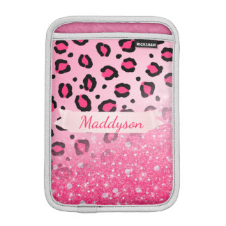 Sparkly Faux Glitter Leopard Print For Teen Girls Sleeve For iPad Mini