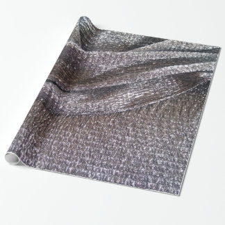 Sparkly Faux Silver Glitter Fabric Design Wrapping Paper