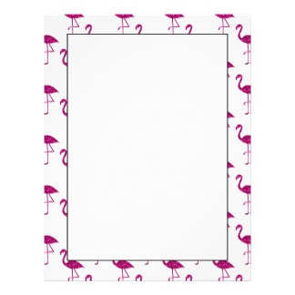 Sparkly flamingo Pink glitter sparkles pattern Letterhead
