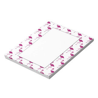 Sparkly flamingo Pink glitter sparkles pattern Notepad