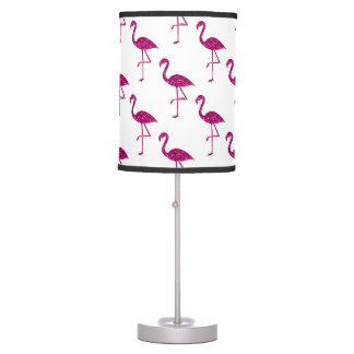 Sparkly flamingo Pink glitter sparkles pattern Table Lamp