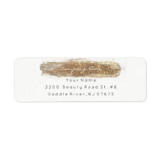 Sparkly Glitter Bright Ivory Foxier Return Adress Return Address Label