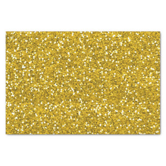 "Sparkly Glitter Gold 10"" X 15"" Tissue Paper"