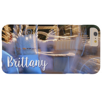 Sparkly gold blue princess coach photo custom name barely there iPhone 6 plus case