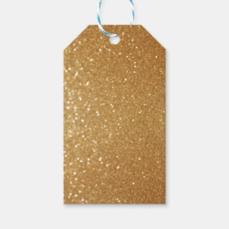 Sparkly Gold Custom Gift Tag
