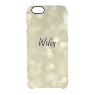Sparkly Gold Wifey iPhone 6/6s Case