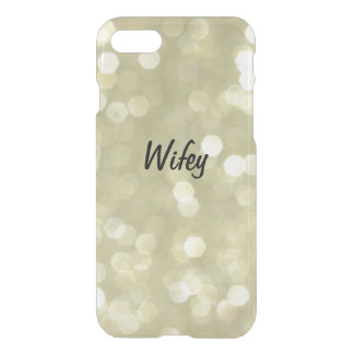 Sparkly Gold Wifey iPhone 7 Case