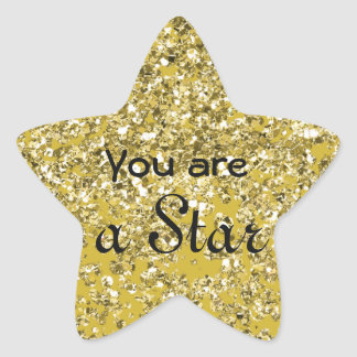Sparkly Hope Star Star Sticker