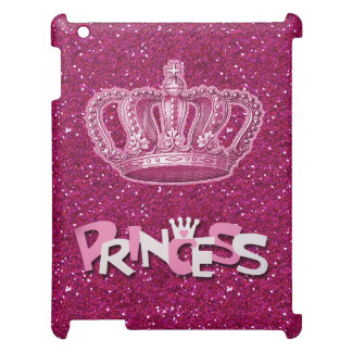 Sparkly Hot Pink Princess Glitter & Vintage Crown Case For The iPad 2 3 4