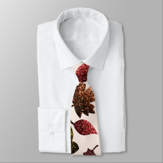 Sparkly leaves fall autumn sparkles pattern tie