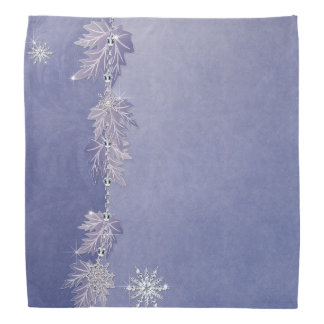 Sparkly Leaves & Snowflakes Bandana