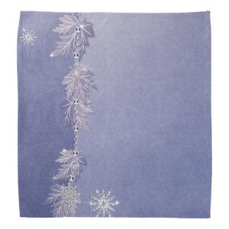 Sparkly Leaves & Snowflakes Bandanas