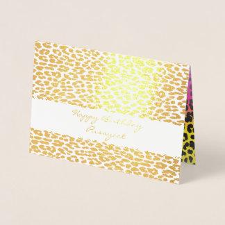 Sparkly Leopard Print Card