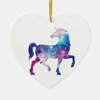 Sparkly Magical Unicorn Ceramic Ornament