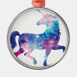 Sparkly Magical Unicorn Metal Ornament