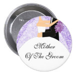 Sparkly Mother of the Groom Button / Pin Purple