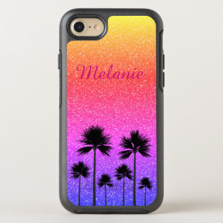 Sparkly Palm Trees OtterBox Symmetry iPhone 8/7 Case