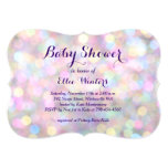 Sparkly Pink Baby Shower Invitation