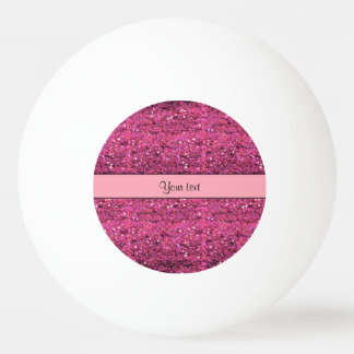 Sparkly Pink Glitter Ping Pong Ball