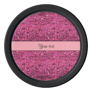 Sparkly Pink Glitter Poker Chips