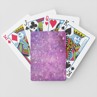 Sparkly Pinky Purple Aura Crystals Bicycle Playing Cards