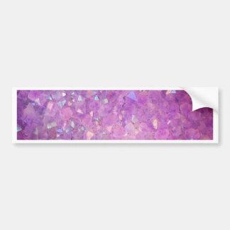 Sparkly Pinky Purple Aura Crystals Bumper Sticker