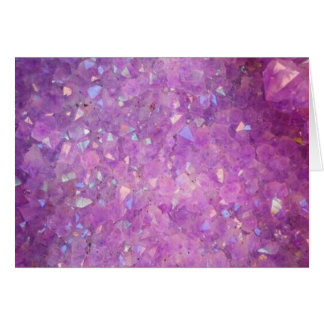 Sparkly Pinky Purple Aura Crystals Card