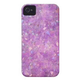 Sparkly Pinky Purple Aura Crystals Case-Mate iPhone 4 Case