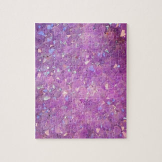 Sparkly Pinky Purple Aura Crystals Jigsaw Puzzle