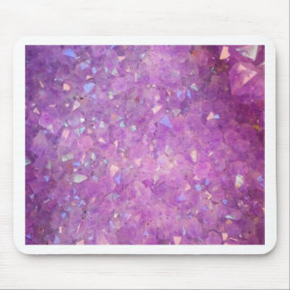 Sparkly Pinky Purple Aura Crystals Mouse Pad