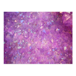 Sparkly Pinky Purple Aura Crystals Postcard